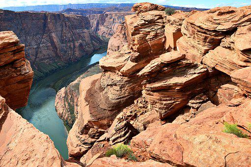 Usa, Colorado River, Horseshoe Bend, Rock