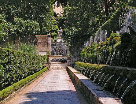 Villa D'este, Tivoli, Italy, Europe, Art, Artwork