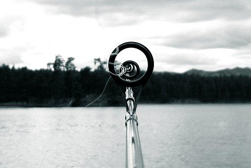 Fishing, Pole, Lake, Black Hills, Stockade Lake, Unique