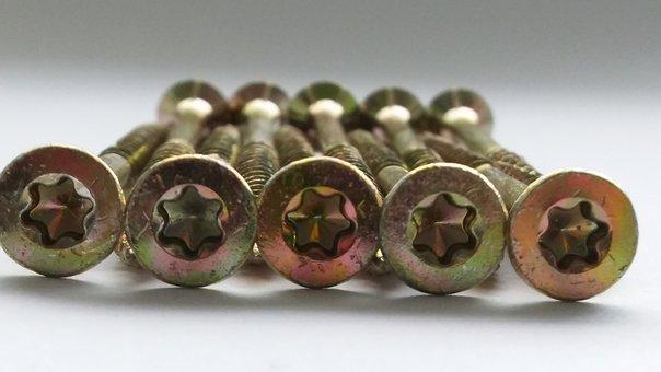 Screw, Metal, Thread, Iron, Brass