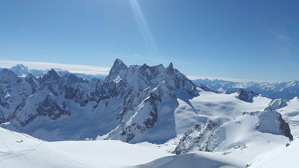 High Mountains, Chamonix, Grand Jorasses
