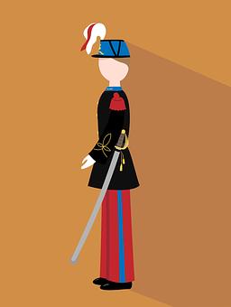 Soldier, Officer, Flat Design, Flat, Uniform, Military