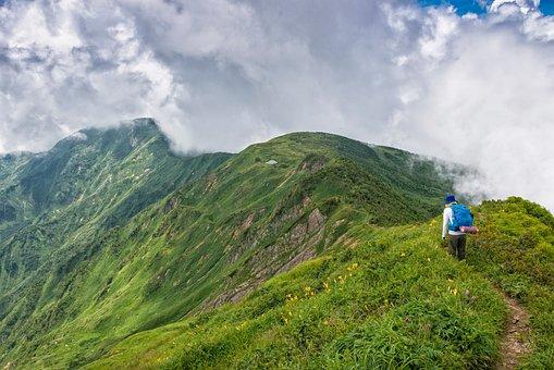 Mountain, Trekking, Hakusan, National Park, Cloud