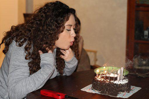 Birthday, Blowing Out Candles, Cake, Party, Happy, Fun