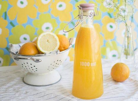 Juice, Food, Drink, Orange, Orange Juice, Healthy