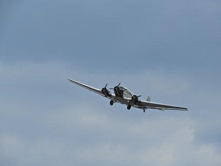 Flyer, Historically, Ju52, Aircraft, Junker, Aviation
