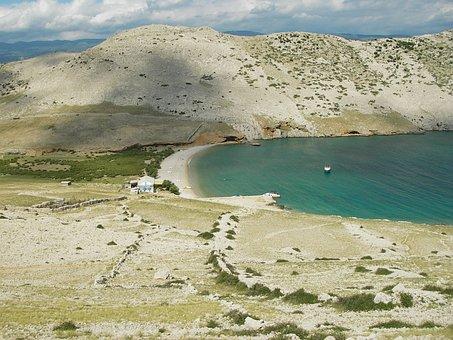 Croatia, Mountain, Steppe, Krk, Boos, Sea, Boats