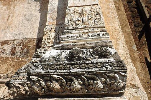 Stucco, Wat Mahathat Lopburi, Lop Buri