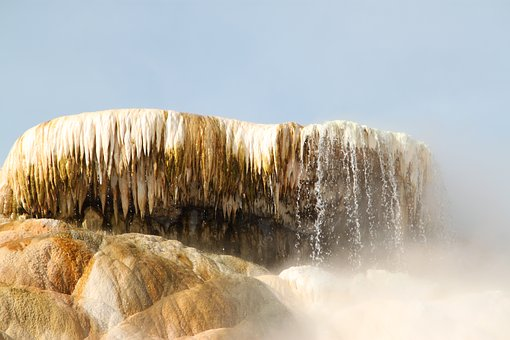 Yellowstone, Mammoth Springs, Mammoth, Wyoming, Park