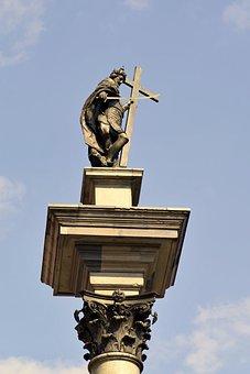 Sigismund's Column, Warsaw, Poland, Sculpture, Monument