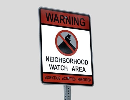 Neighborhood Watch, Sign, Signage, Protection, Crime