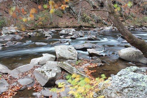 Rock, Rocks, River, Riverbed, Nature