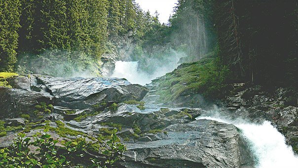 Krimml Waterfalls, Salzach, Salzburger Land, Austria