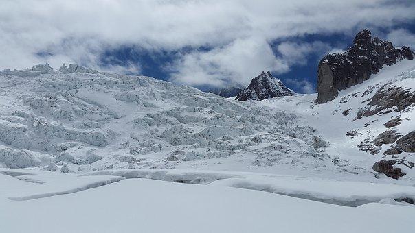 Mer De Glace, Glacier, Crevasses, Seracs, Glacier Crash