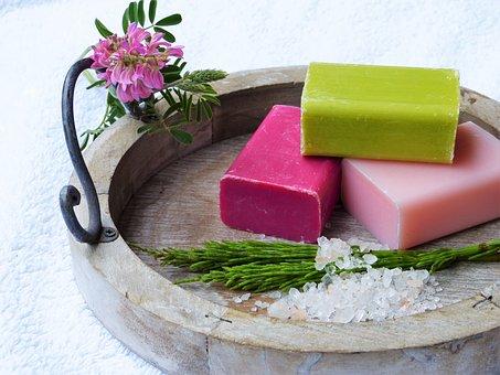 Soap, Horsetail, Salt, Blossom, Bloom, Wood, Towel