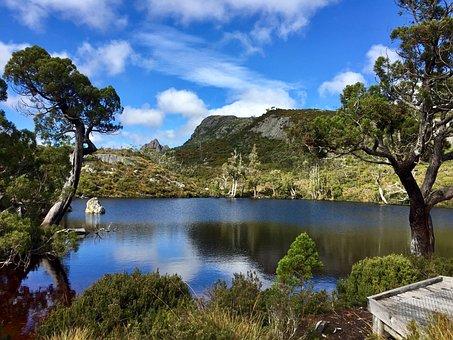 Cradle Mountain, Lake, Water, Mountains, Rocks, Stone
