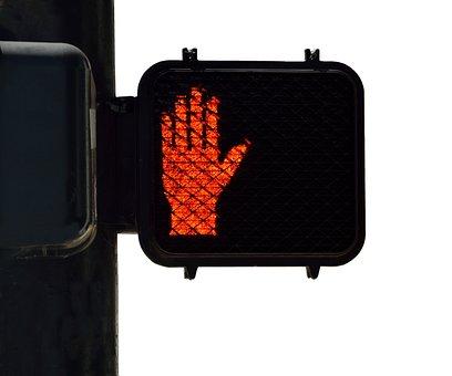Street Light Sign, Pedestrian Sign, Walk Sign