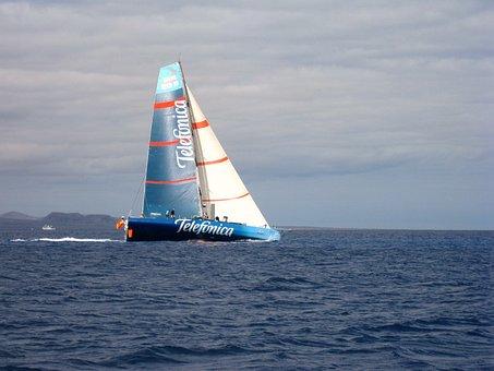 Yacht, Telefonica, Race, Atlantic, Volvo, Open Ocean