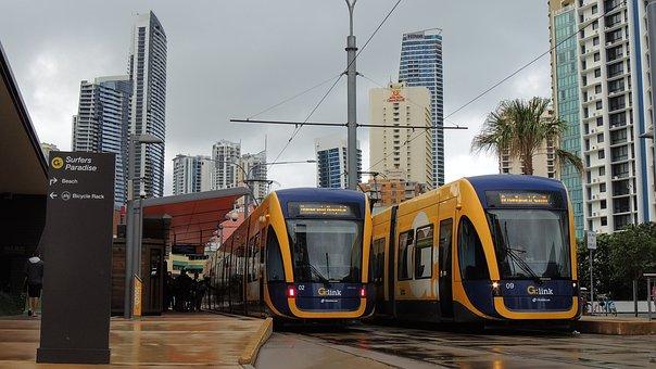 Goldcoast, Tram, Gold, Coast, Queensland, G, Link