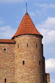 Castle, Fort, Lake Dusia, Defensive, Warsaw, Poland
