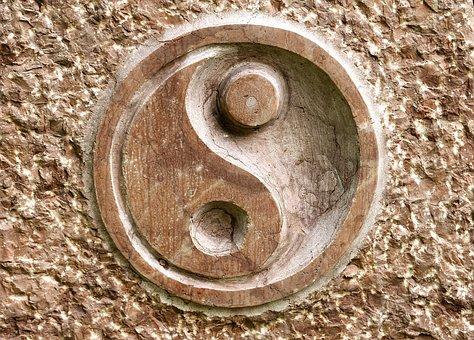 Yin, Yang, Yin Yang, Round, Qi Gong, Chinese, Stone