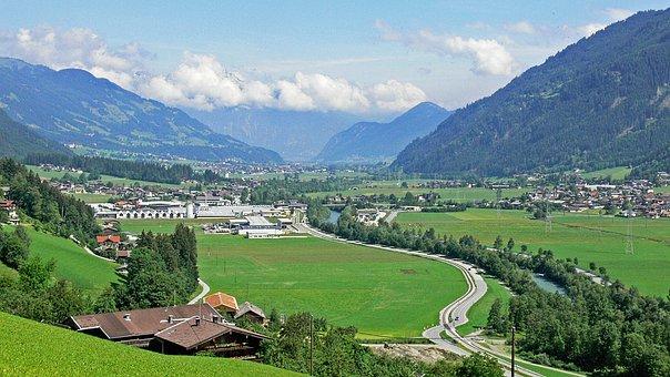 Zillertal, Tyrol, Kaltenbach, North View, Nature