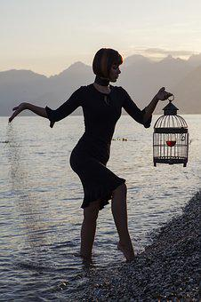 Women's, Exposure, Cage, Wine, Fiction, Freedom, Idea