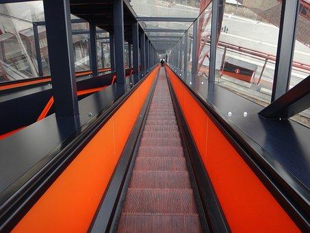 Escalator, Stairs, Bill, Zollverein, Eat, Input, High
