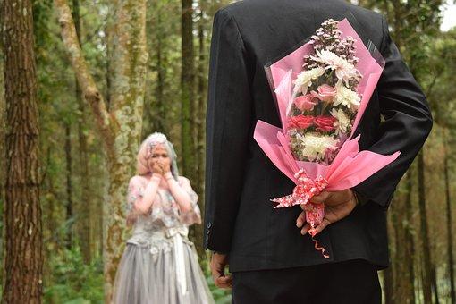 Flowerbouquet, Bride, Wedding