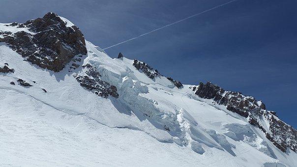 Mont Maudit, Glacier, Seracs, High Mountains, Mountains