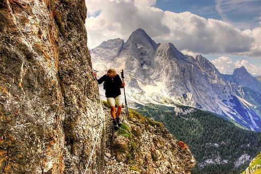 Dolomites, Climb, Mountains, Italy, Hiking, High