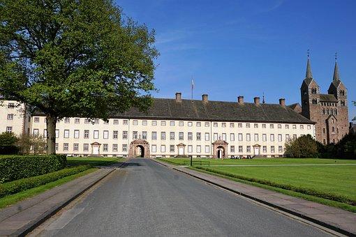 Castle, Germany, Nature, Architecture, Noble, Höxter