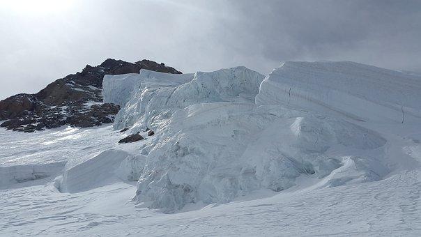 Glacier, Seracs, High Mountains, Mountains, Ice, Alpine