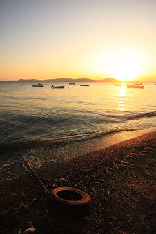 Beach, Sunset, Solar, In The Evening, Landscape, Marine