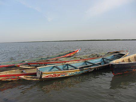 Canoe, Casamance, Senegal, Africa, River