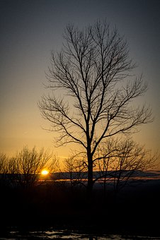 Sunrise, Mountain Top, Winter, Mountain, Top, Sky, Peak