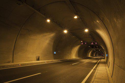 Tunnel, Road, Light, Trip, Music, Concrete