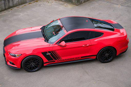 Mustang, Gt, Red, Usa, Car, Auto, Transport, Design