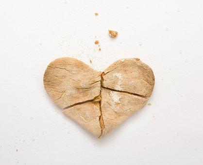 Cookie, Heart, Baked, Broken, Valentine, Romantic
