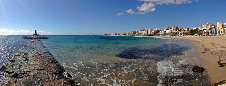 Villajoyosa, Vila Joiosa, Alicante, Costa, Beach, Sea