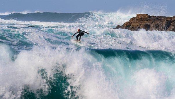 Surfer, Surfing, Wave, Beach, Ocean, Board, Surfboard