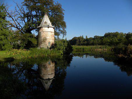 Old Building, Dovecote, Wooden, Pond, Pigeon