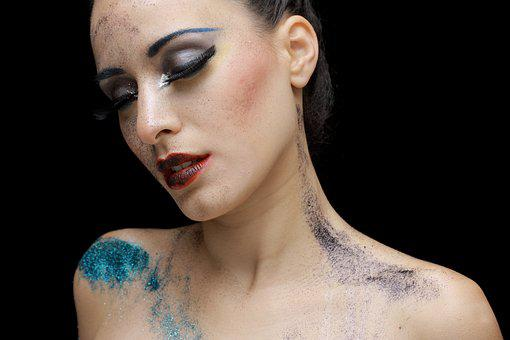 Paint, Model, Exposure, Fashion Shoot, Young, Studio