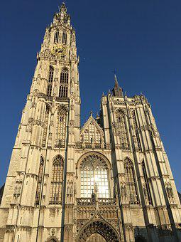 Antwerp, Church, Landmark, Belgium, Cathedral