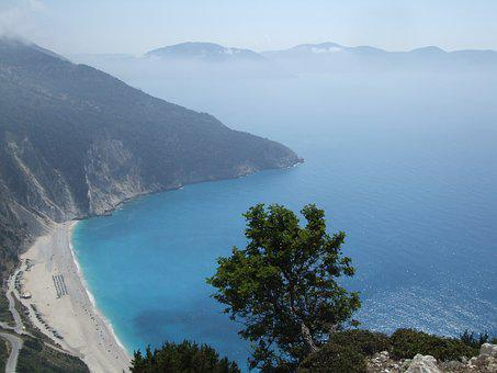 Beach, Seaside, Cefalonia, Mirtos