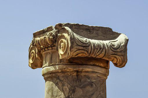 Pillar, Column, Cyprus, Paphos