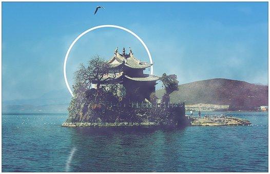 Small Putuo, Dali, Temple, Erhai Lake, Aperture
