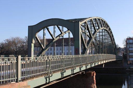Steel Bridge, Arch Bridge, Hall, Genzmer Bridge