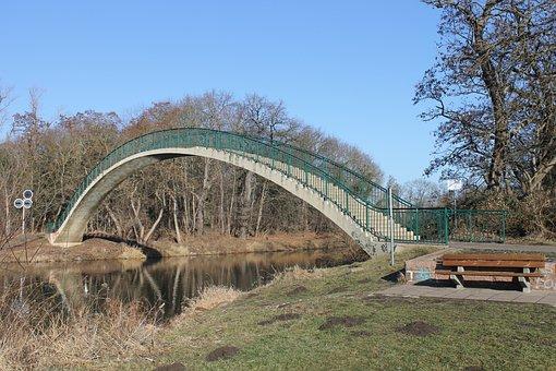Arch Bridge, Hall, Forst Werder, Trotha