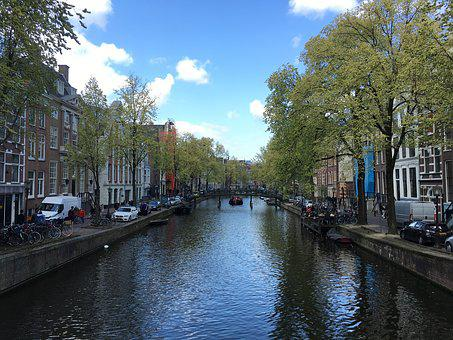 Amsterdam, Canal, Netherlands, Holland, Europe, Water